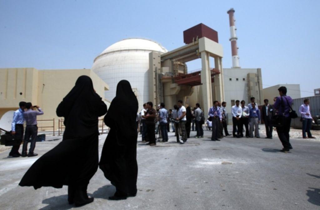 Ein Atomkraftwerk in Buschehr im Iran (Archivfoto). Foto: dpa
