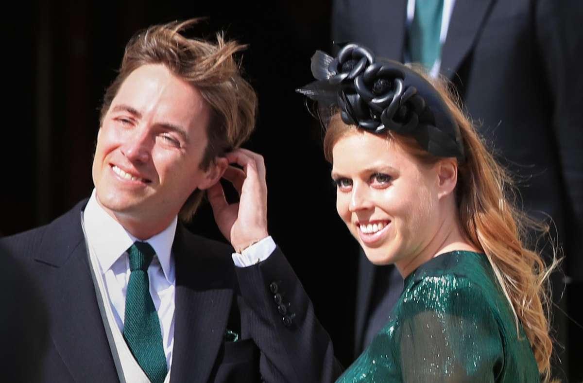 Prinzessin Beatrice, Prinzessin von York, und ihr Ehemann Edoardo Mapelli Mozzi sind Eltern eines gemeinsamen Kindes. (Archivbild) Foto: dpa/Peter Byrne