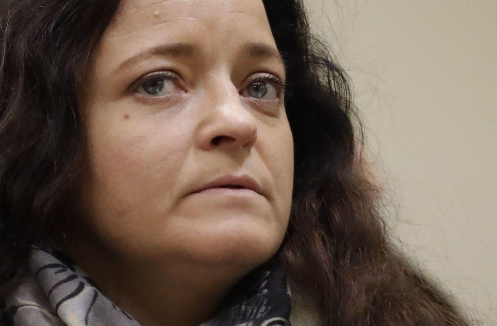 """Mit einem knappen """"Nein"""" hat Beate Zschäpe die Frage beantwortet, ob sie etwas über den Fall Peggy weiß. Foto: AP"""