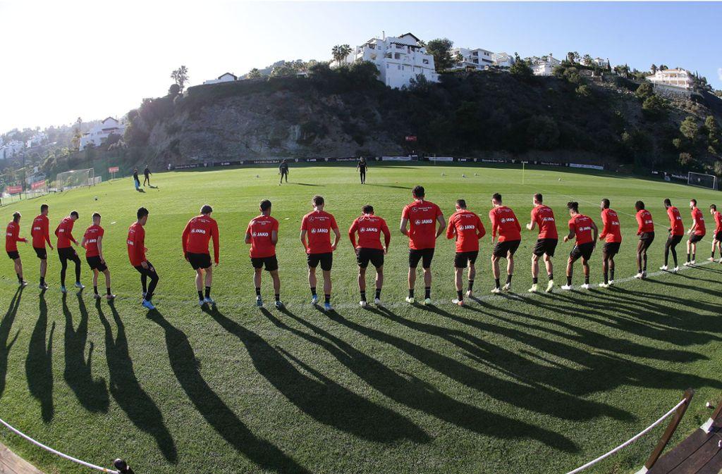 Intensive Tage liegen im recht langen Trainingslager in Marbella hinter den VfB-Spielern. Foto: Pressefoto Baumann/Hansjürgen Britsch