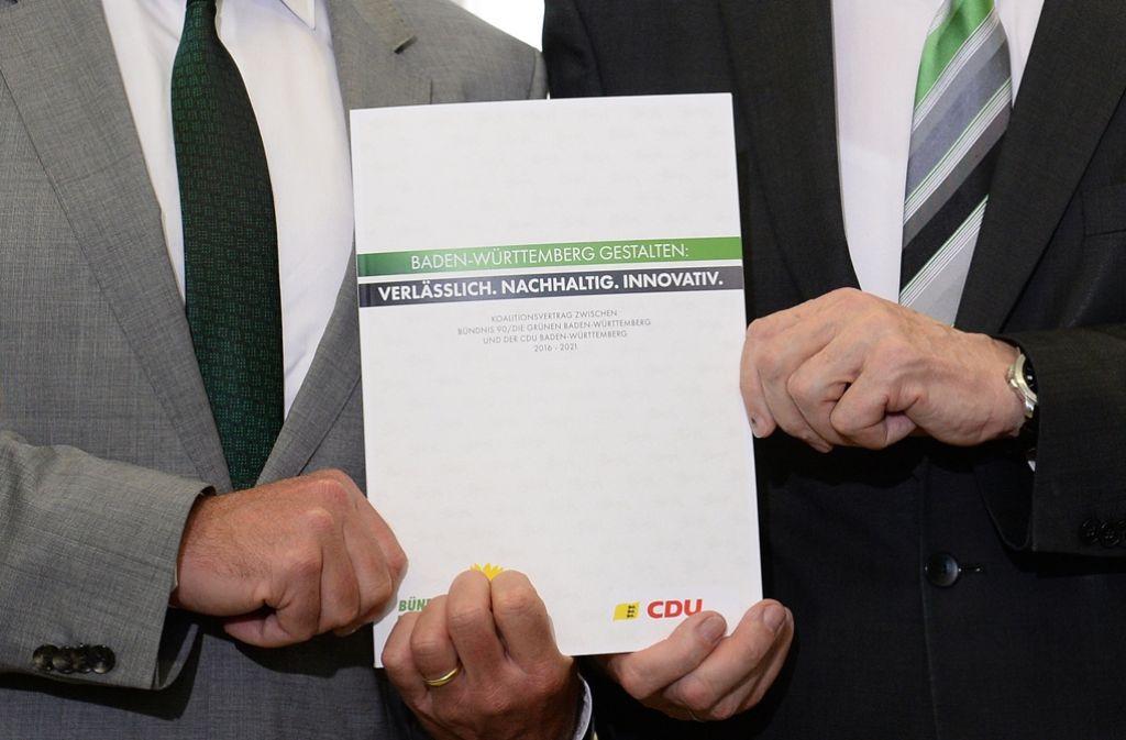 Im Juli hat die grün-schwarze Koalition ihren Koalitionsvertrag vorgestellt. Foto: dpa