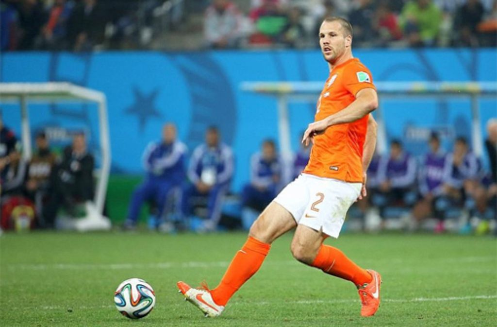 Hat Ron Vlaar beim Elfmeterschießen gegen Argentinien doch für Holland getroffen? Foto: Getty Images
