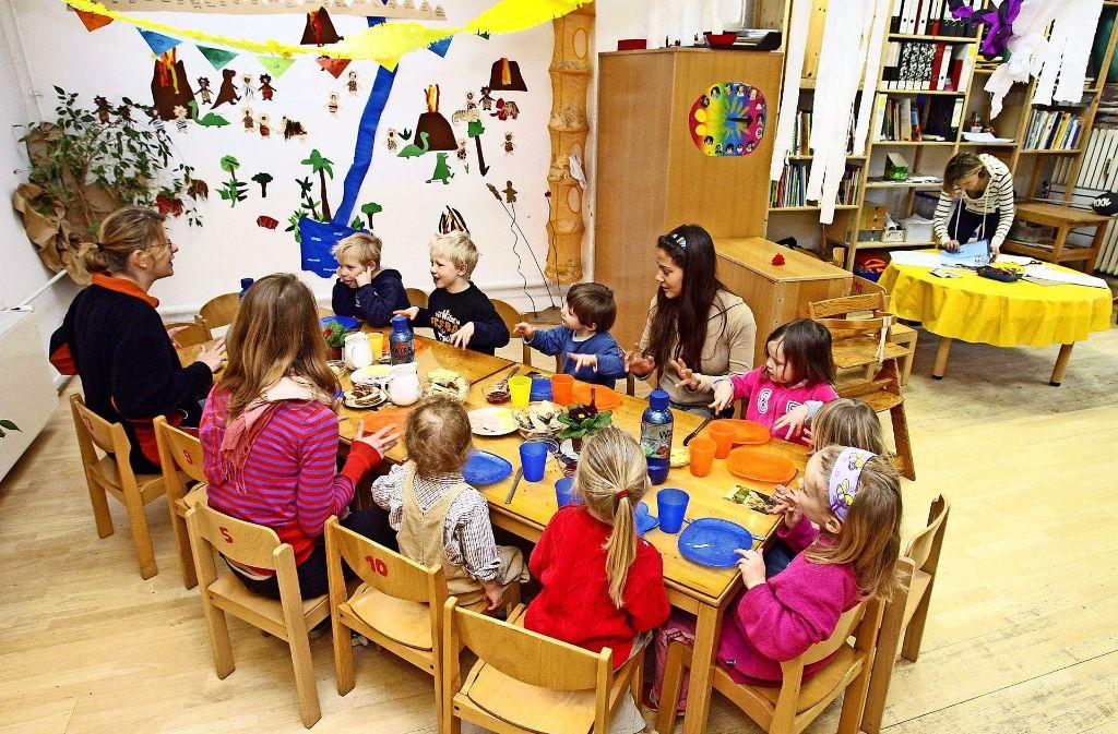 Bei den Kindern unter drei Jahren ist die Platznot in Stuttgart besonders groß. Foto: dpa