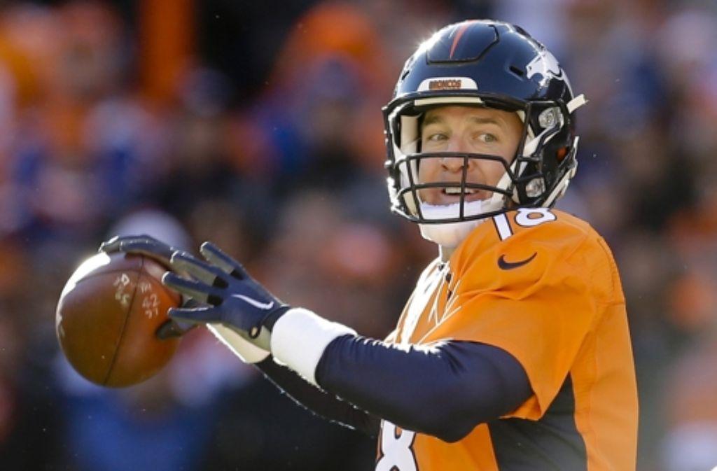 """Peyton Manning von den Denver Broncos ist nicht mehr der alte """"Mister  Perfect"""". Foto: AP"""