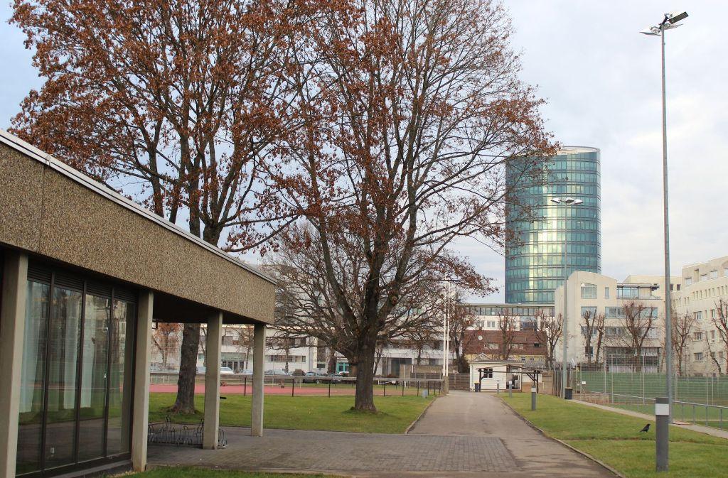 Die Allianz möchte auf ihrem eigenen Gelände bauen. Bislang nutzt der TSV Georgii Allianz das Areal. Die VÖS ruft die Bürger zur Demo gegen die Baupläne auf. Foto: Rebecca Beiter