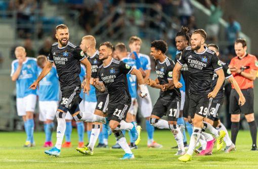 HSV rettet sich gegen Chemnitzer FC in zweite Runde