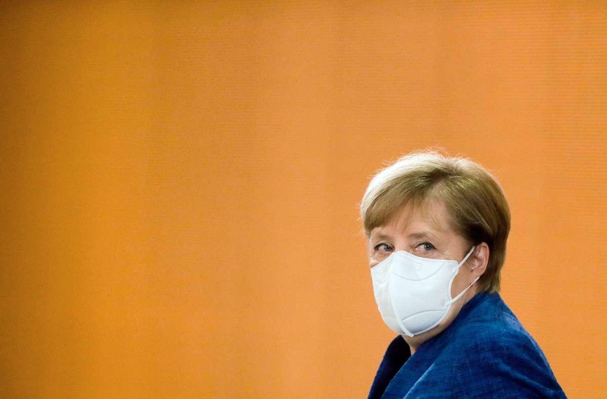 Angela Merkel will mehr Härte im Kampf gegen Corona. Foto: dpa/Markus Schreiber