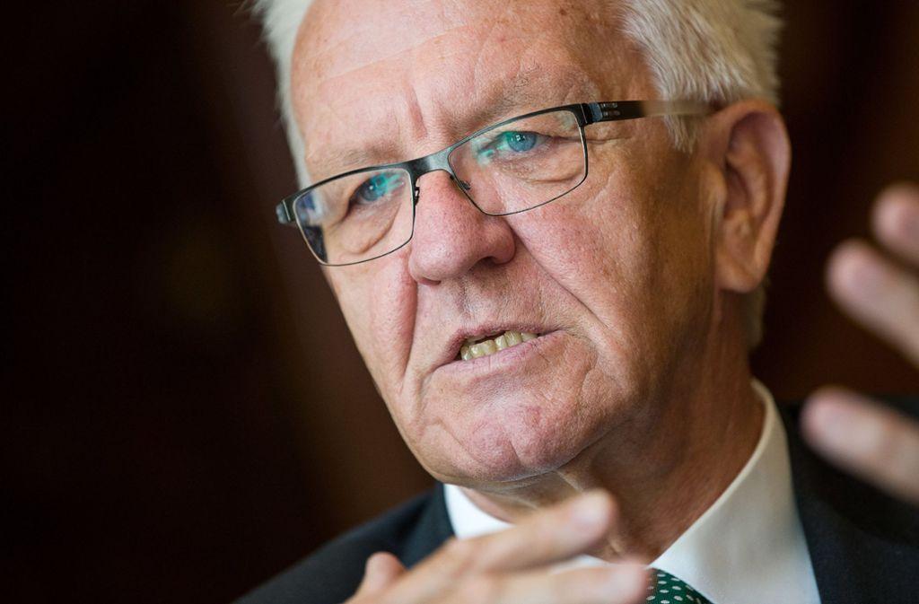 Winfried Kretschmann schlägt ein umfassenderes Einwanderungsgesetz vor. Foto: dpa