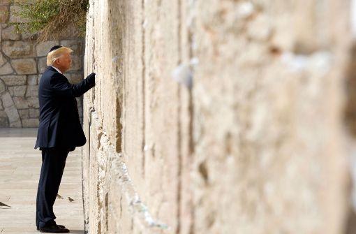 Historischer Besuch: Trump an der Klagemauer