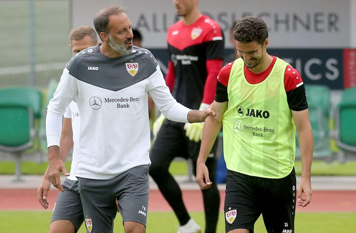 Pellegrino Matarazzo und der VfB Stuttgart spielten am Samstag gegen Racing Straßburg. Foto: dpa/Karl-Josef Hildenbrand