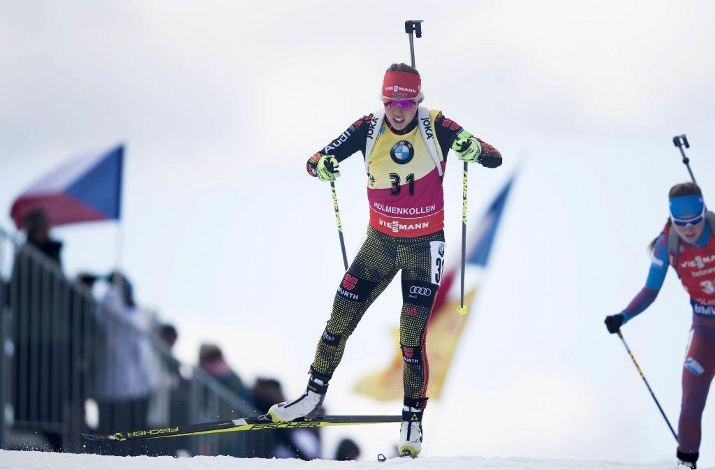 Laura Dahlmeier stand in dieser Biathlon-Saison in 17 ihrer 24 Saisonrennen auf dem Podest Foto: NTB scanpix