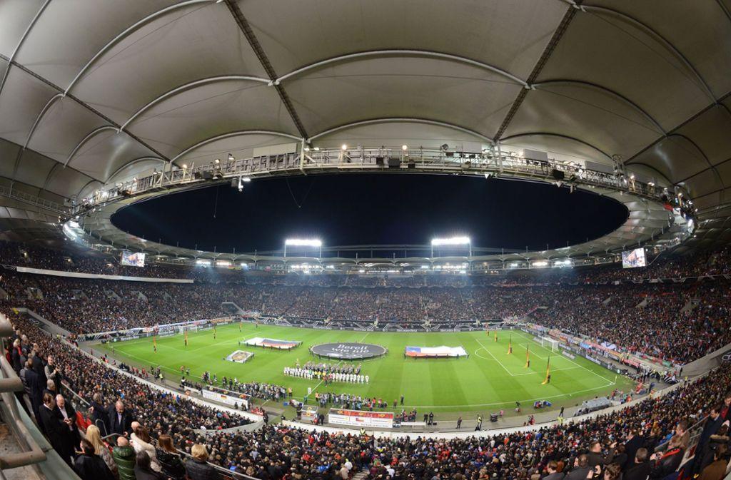 Bereits 32 Mal trat die deutsche Nationalmannschaft in Stuttgart an. Lediglich Berlin und Hamburg waren noch öfter Gastgeber der DFB-Elf. Foto: dpa