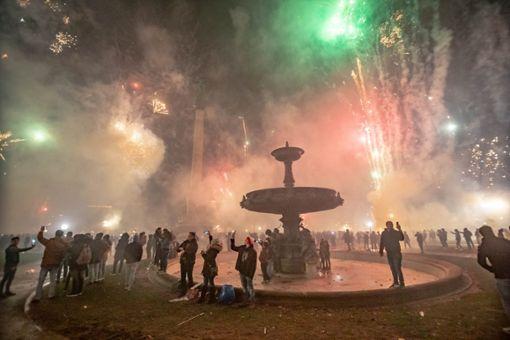 So hat Stuttgart auf dem Schlossplatz gefeiert