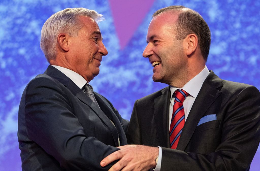 Einig in Sachen Europa: CDU-Landeschef Thomas Strobl (li.) und der CSU-Europaabgeordnete Manfred Weber. Foto: dpa