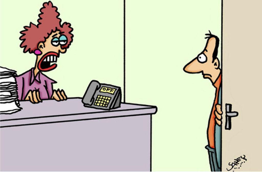 """Neulich auf dem Amt: """"Ich bin nicht dafür zuständig Ihnen zu sagen, wer dafür zuständig ist Ihnen zu sagen, wer zustärndig ist."""" Foto: Karsten/ oonpool.com"""