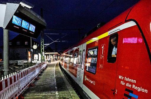 S-Bahn hält nichtin Feuerbach