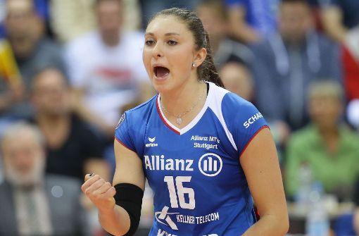 Michaela Mlejnková von Allianz MTV Stuttgart will's wissen. Foto: Baumann