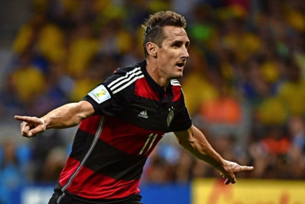 Niemand hat mehr Tore bei einer WM geschossen als Miroslav Klose Foto: AFP