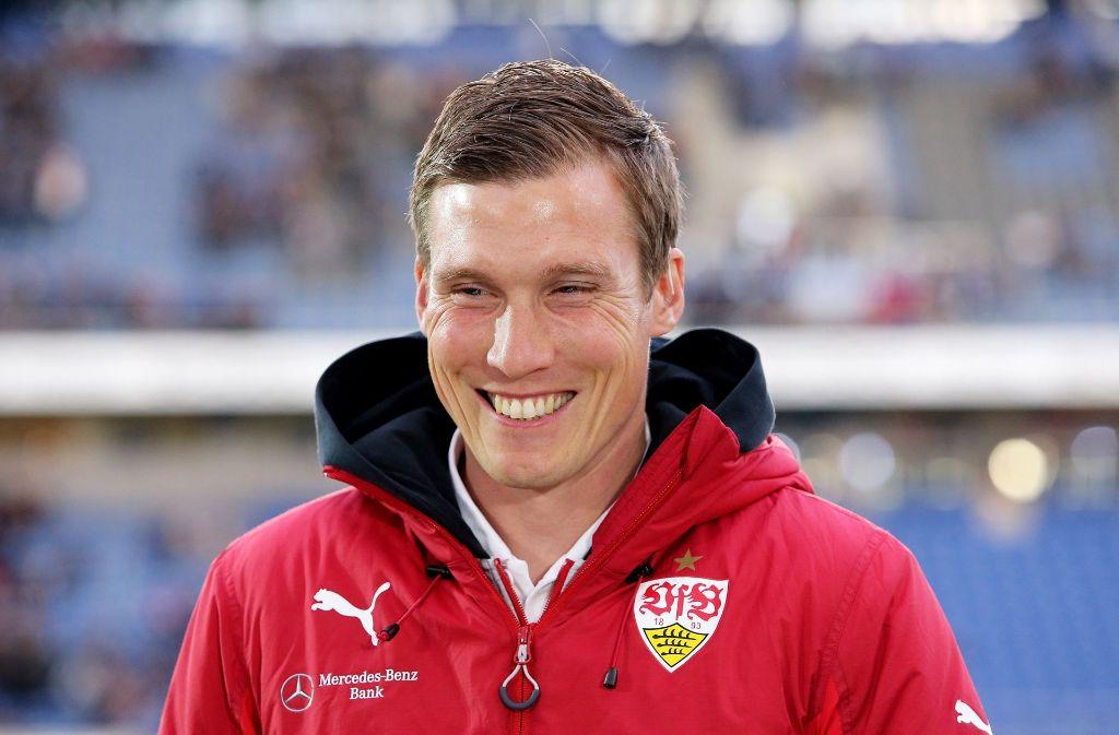 VfB-Trainer Hannes Wolf ist vor dem Spiel gegen Berlin zuversichtlich. Foto: Pressefoto Baumann