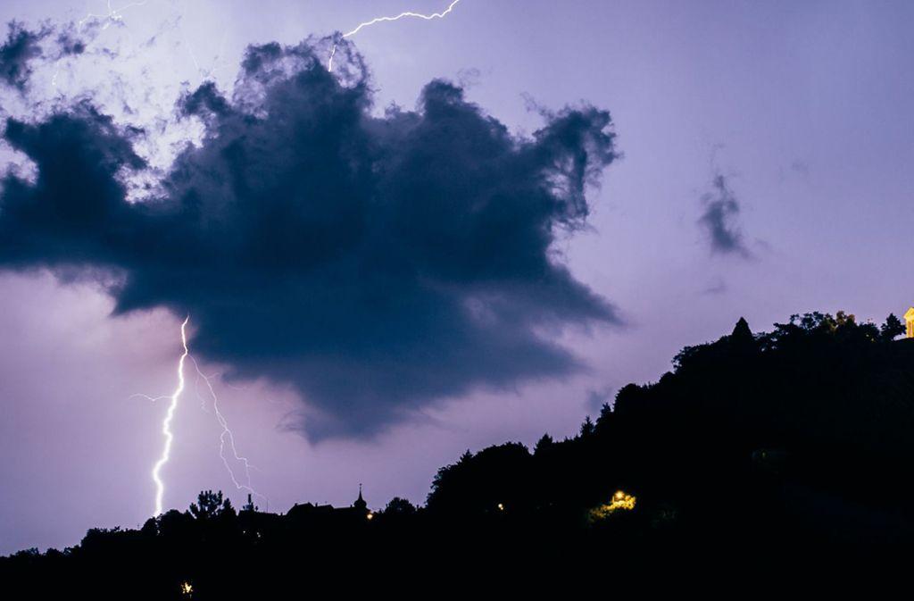 In der Region Stuttgart kam es zu einem heftigen Gewitter. Foto: 7aktuell.de