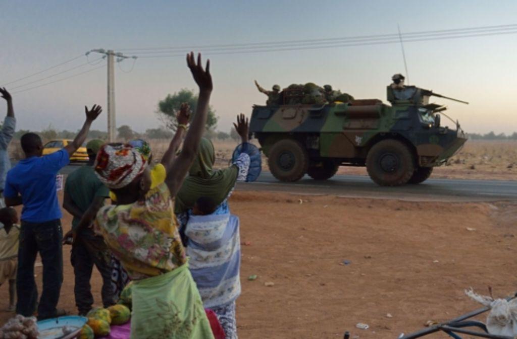 Viele Menschen in Mali sind froh über den Einsatz der französischen Truppen. Foto: AFP