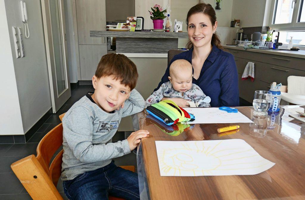Varinia Kirchherr lässt sich von ihrer Krankheit nicht unterkriegen – für ihre Kinder will sie weiterkämpfen. Foto: Beyen