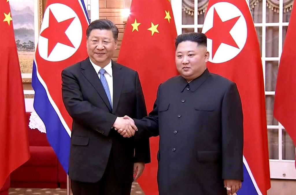 Der chinesische Präsidenten Xi Jinping (links) und Nordkoreas Machthaber Kim Jong Un Foto: AFP