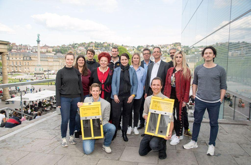 """""""Sauberkeit macht Spaß"""", könnte man das Projekt """"Tippen mit Kippen"""" nennen, das  vom Förderverein Sicheres und Sauberes  Stuttgart ins Leben gerufen wurde. Foto: Kärcher"""
