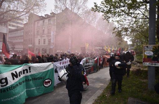 Protest in der Innenstadt weitgehend friedlich