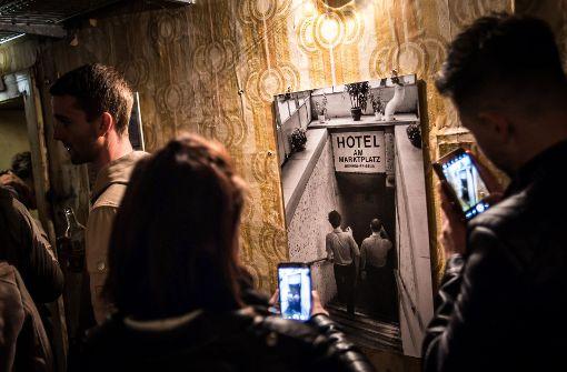 Öffnet nur einmal im Jahr: Das Bunkerhotel am Marktplatz. Foto: Lichtgut/Max Kovalenko