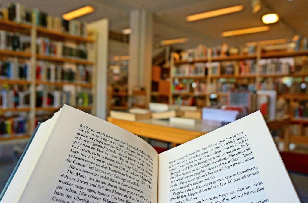 Wer will, kann in der Bücherei  ganz traditionell schmökern. Es gibt aber auch ein reichhaltiges Angebot an elektronischen Medien. Foto: Leonie Thum