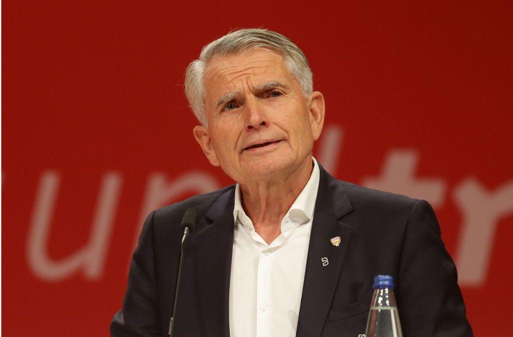 Der VfB-Präsident Wolfgang Dietrich will nach einer erfolgreichen Saison vieles, nur nicht nachlassen. Foto: Baumann