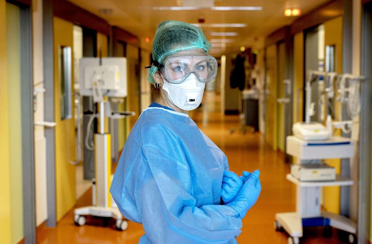 Volle Konzentration: Katharina Kimmich auf der Station 1D im Robert-Bosch-Krankenhaus in Stuttgart Foto: Laura Hornberger