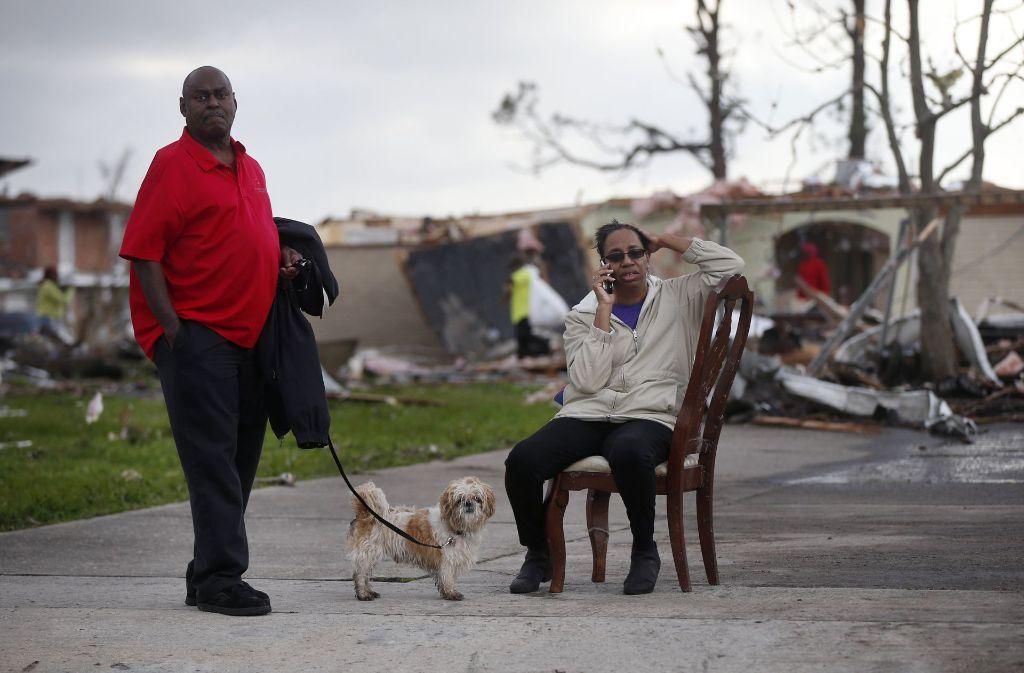 Der Tornado in New Orleans hinterließ Schäden, Verletzte und Verzweiflung. Foto: AP