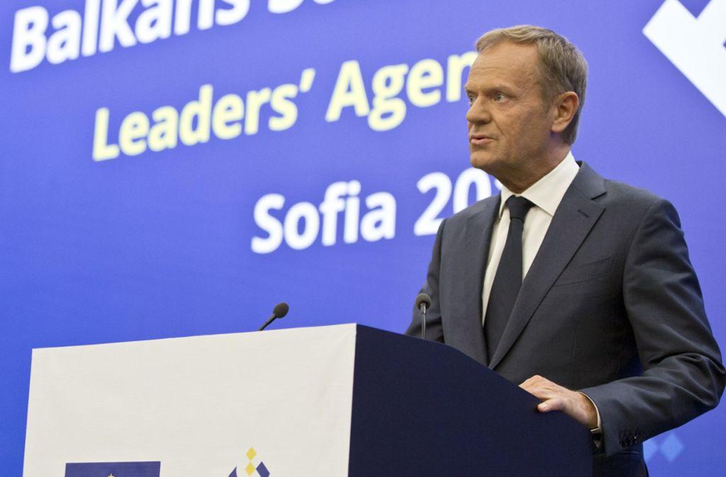 EU-Ratspräsident Donald Tusk. Foto: AP
