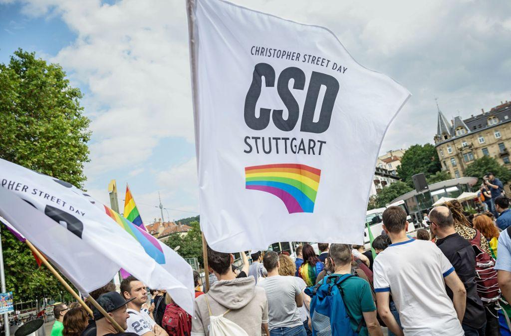 Kundgebung auf dem Marienplatz gegen homophobe Angriffe. Foto: Lichtgut/Julian Rettig