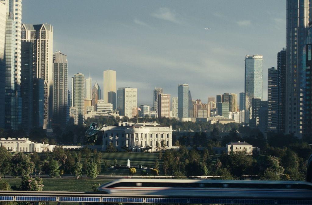 Alles digital: Blick auf Washington und das Weiße Haus der Zukunft, wie es das Stuttgarter Studio Luxx im Computer entworfen hat Foto: 20th Century Fox