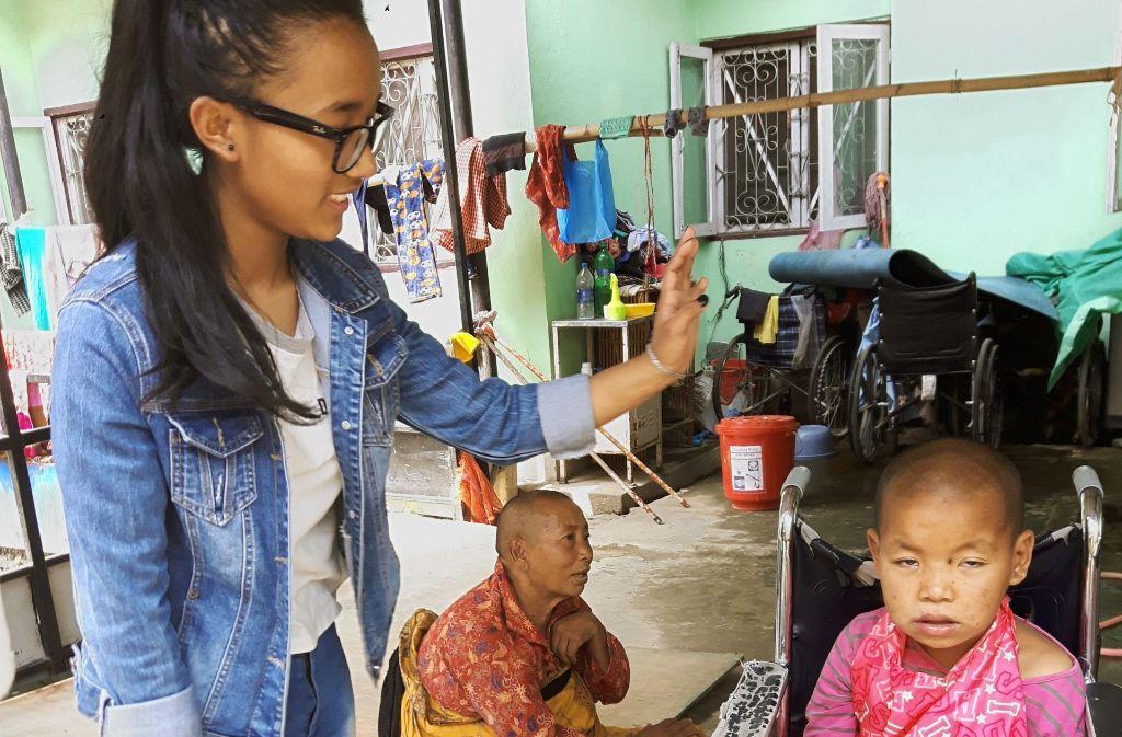 Behinderte Menschen werden in Nepal von keinem sozialen Netz aufgefangen. Foto: Vöhringer