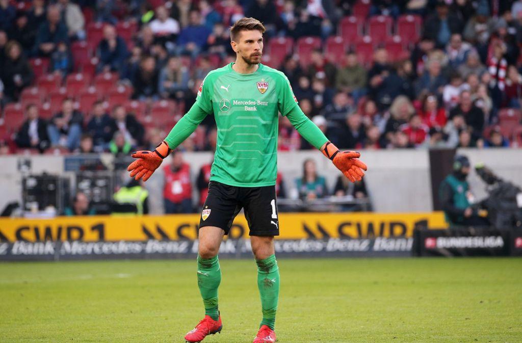 Ron-Robert Zieler vom VfB Stuttgart steht in einer nicht unbedingt positiven Statistik unangefochten an der Spitze. Foto: Pressefoto Baumann