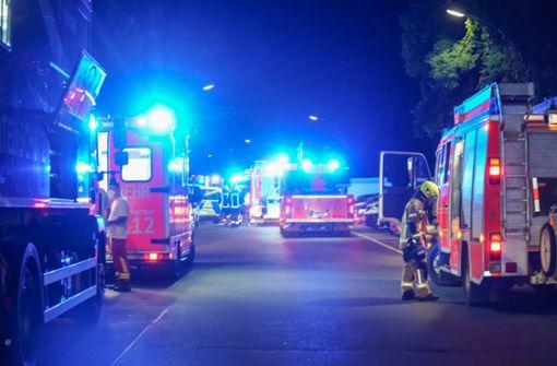 In der Rotebühlstraße steht ein Balkon in Flammen