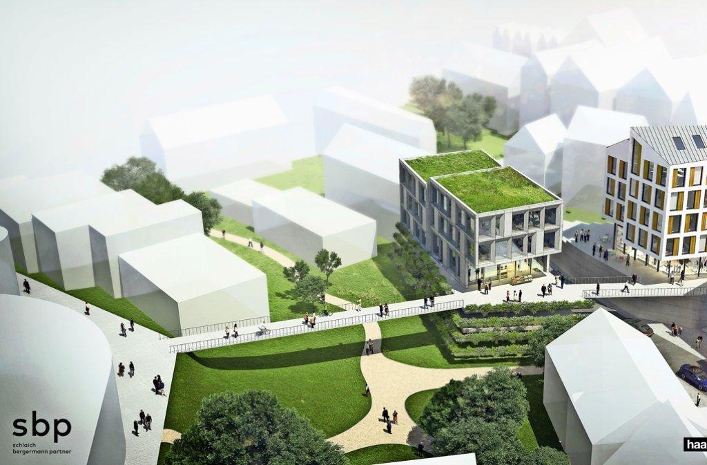 Der Brückenschlag ist eines der Zukunftsprojekte in Leonberg und soll die Altstadt mit dem neuen Stadtzentrum verbinden. Foto: Haas, Cook, Zemmrich/Studio 2050