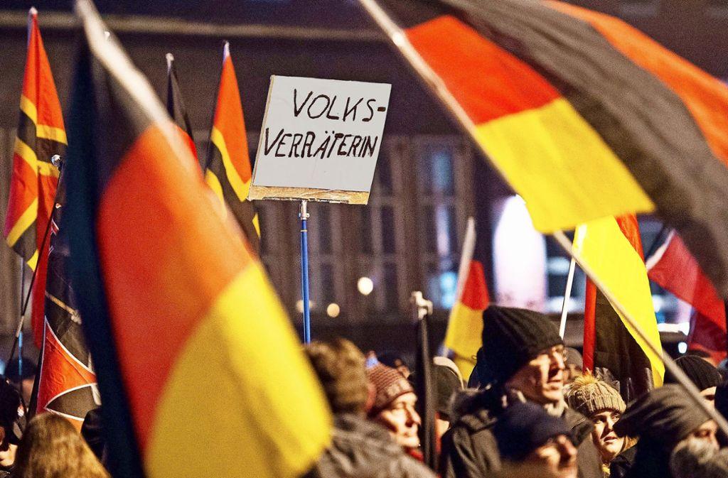 Pegida gibt es nicht nur in Dresden: Demo in Duisburg im vergangenen Herbst. Foto: dpa