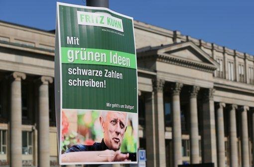 Tausende Plakate haben die OB-Kandidaten in der Stadt aufgehängt. In der Fotostrecke zeigen wir Ihnen die Motive im Überblick. Foto: Achim Zweygarth