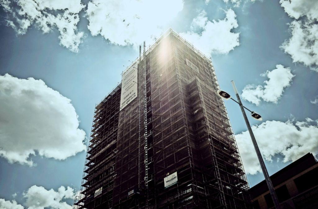 Das Luxushochhaus Cloud No 7 ragt mehr als 60 Meter in die Höhe. Foto: Lichtgut/Leif Piechowski