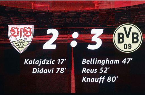 Warum der VfB trotz der Niederlage zufrieden sein darf