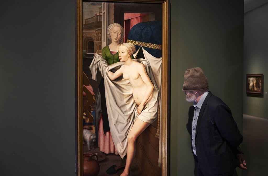 Auf Stippvisite in der Staatsgalerie beim großen Meister Memling Foto: A. T. Schaefer/Staatsgalerie