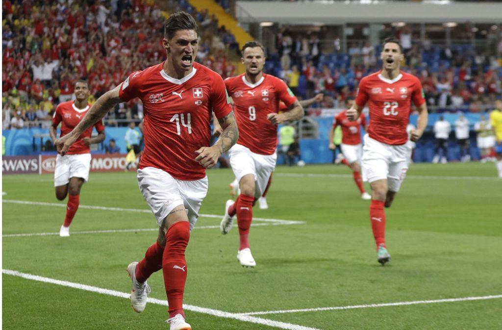Fester Bestandteil der Schweizer Nati: Steven Zuber bei der WM 2018 in Russland Foto: AP
