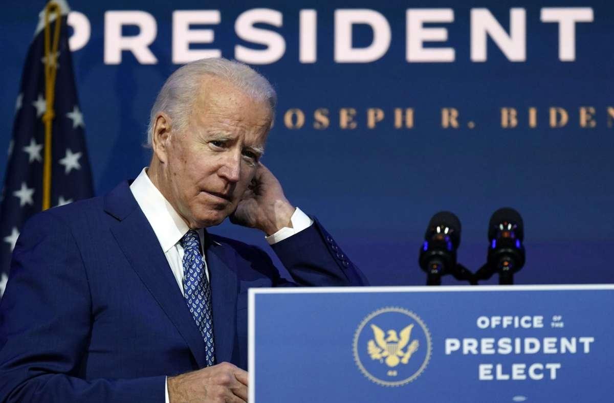 Joe Biden will am Dienstag seinen Kandidaten für das Außenministerium bekannt geben. Foto: dpa/Carolyn Kaster