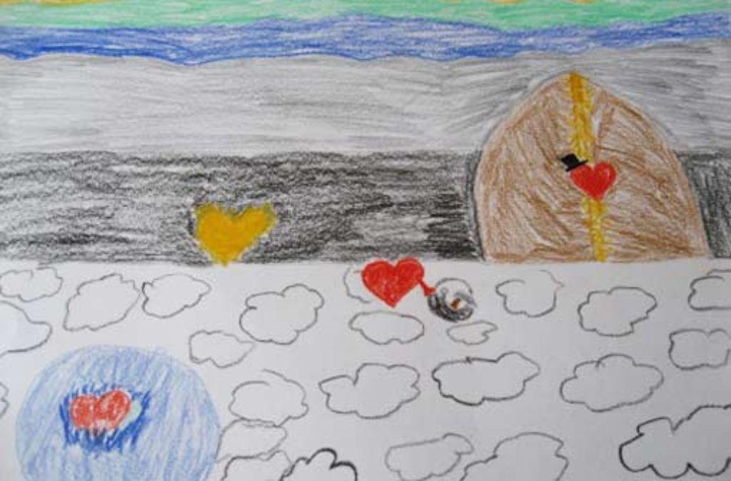 Die Vorstellung eines zehnjährigen Mädchens, das seinen Vater verloren hat: die Seelen der Toten können durch die Tür in den Himmel wandern – und wieder zurück. Foto: privat