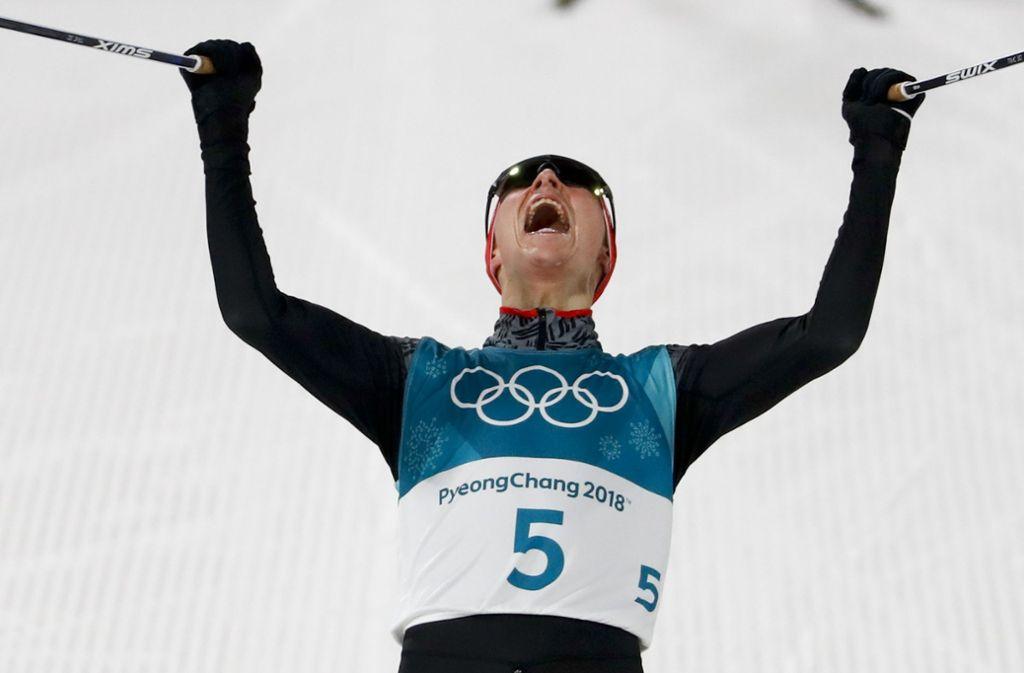 Eric Frenzel hat bei Olympia 2018 in Pyeongchang die Goldmedaille gewonnen. Foto: AP